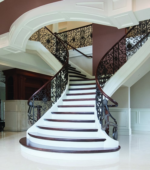 Meeting The Goals Of Our Clients. This Curved Staircase ...